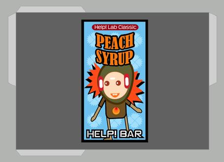 Etiquetas de Xarope >Help Bar! (pessego)
