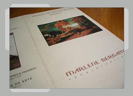 Folder – Caixa Económica para exposição da fotografa Marlene Bergamo
