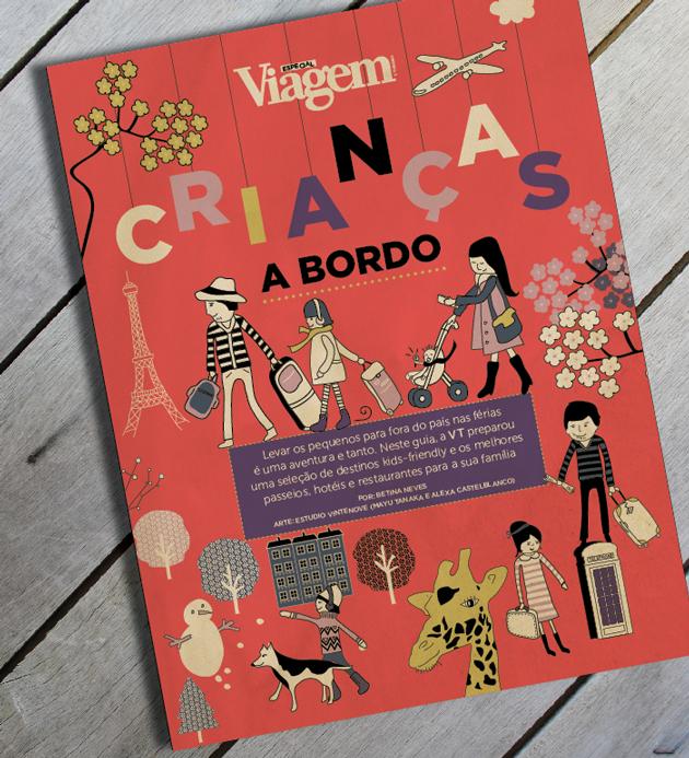 Guia Crianças a Bordo. Viagem e Turismo (capa e miolo).